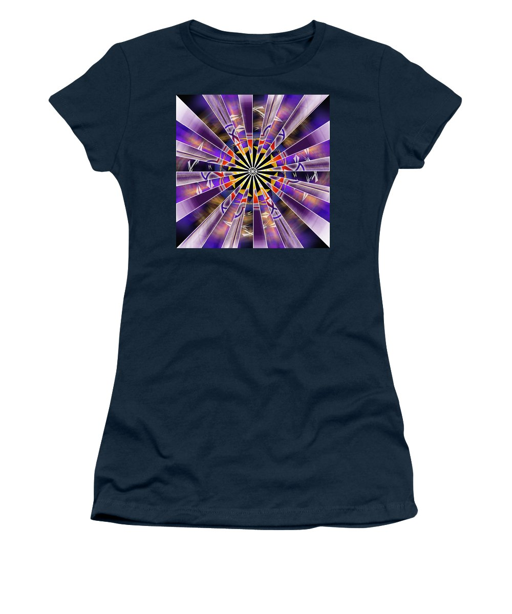 Sacredlife Mandalas Women's T-Shirt featuring the drawing Metatron Storm by Derek Gedney