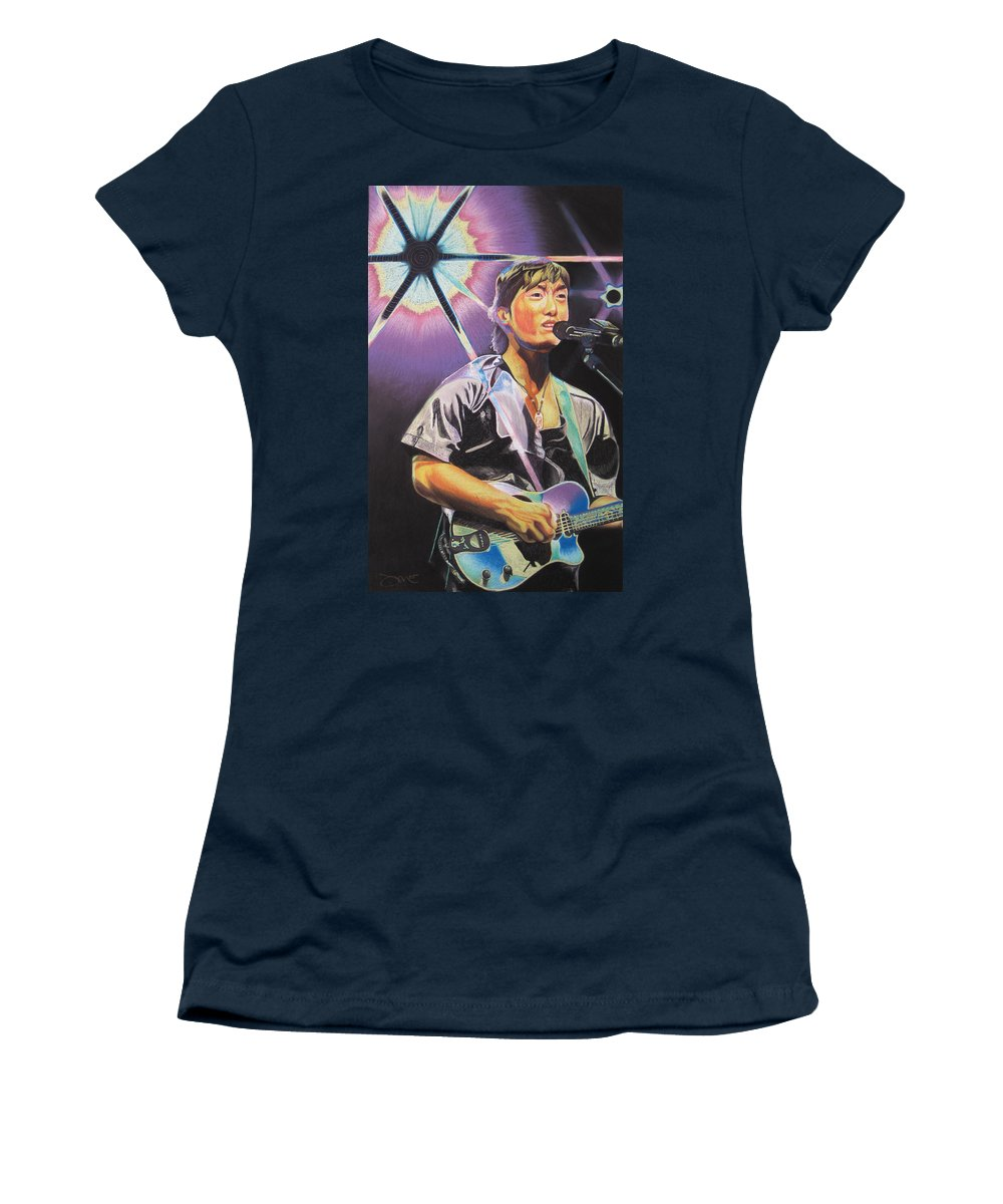 Michael Kang Women's T-Shirt (Athletic Fit) featuring the drawing Micheal Kang by Joshua Morton