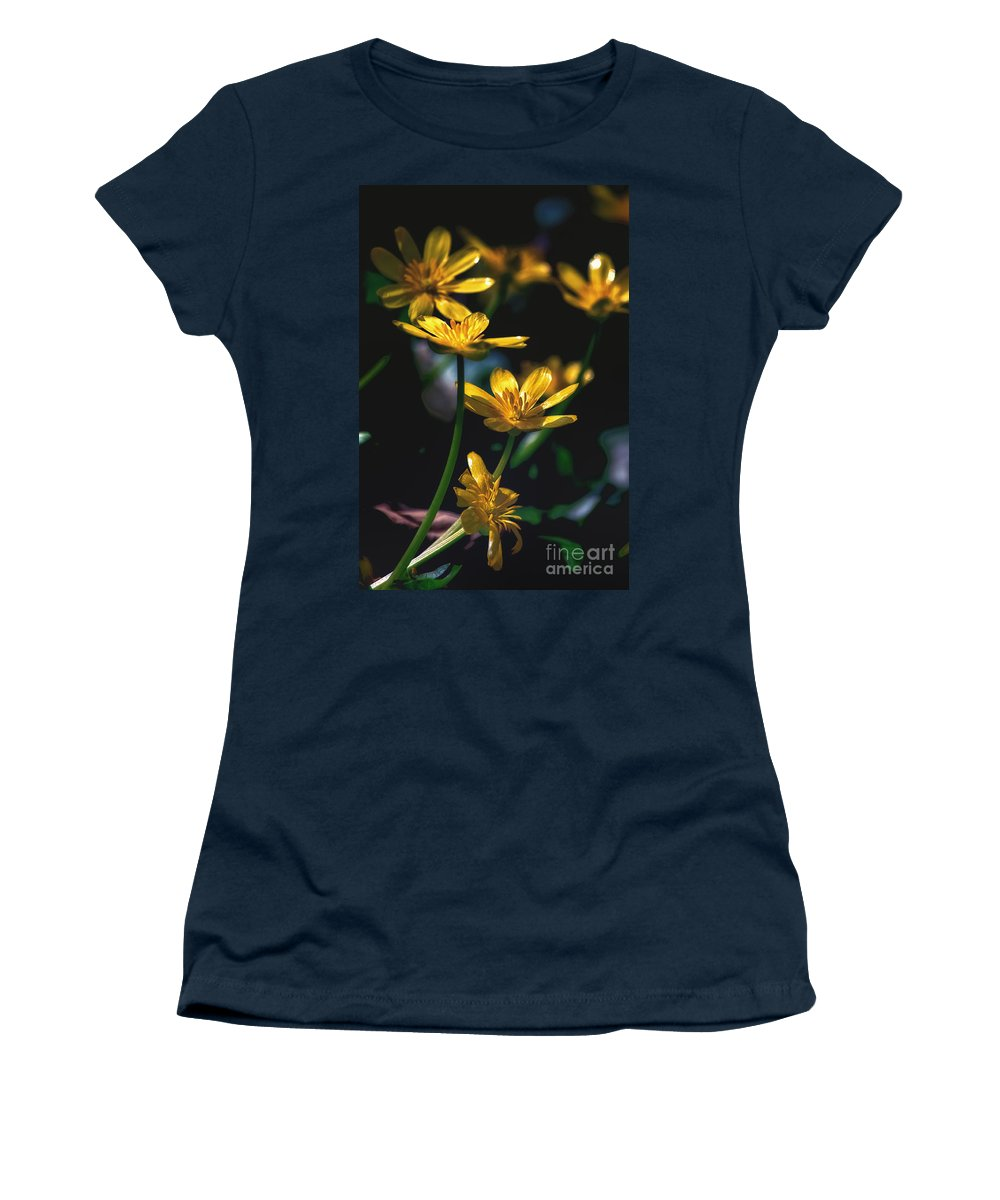 Morning Women's T-Shirt (Athletic Fit) featuring the photograph Morning Glow by Scott Hervieux
