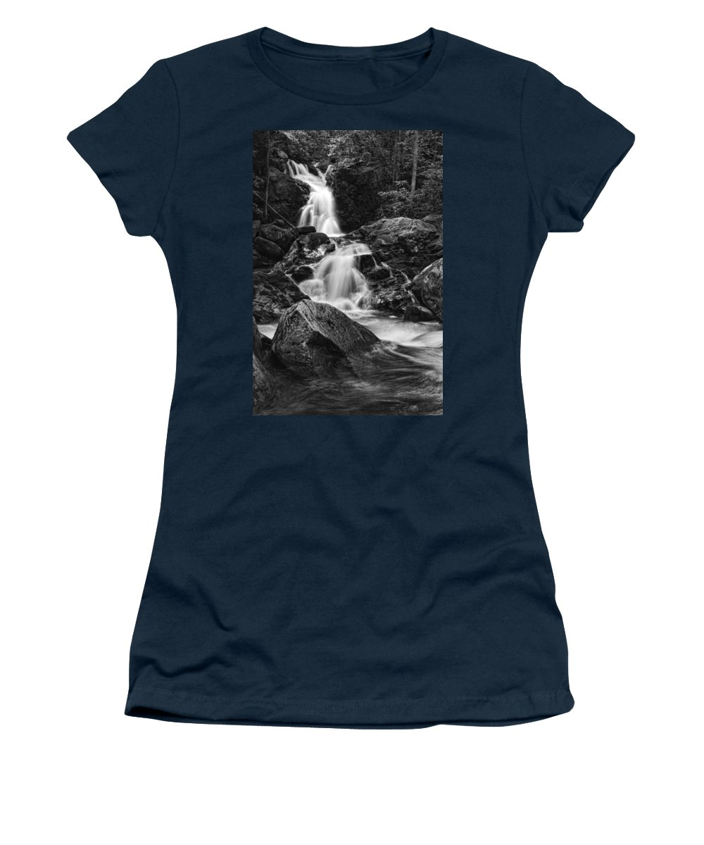 Waterfall Women's T-Shirt (Athletic Fit) featuring the photograph Mouse Creek Falls by Shari Jardina