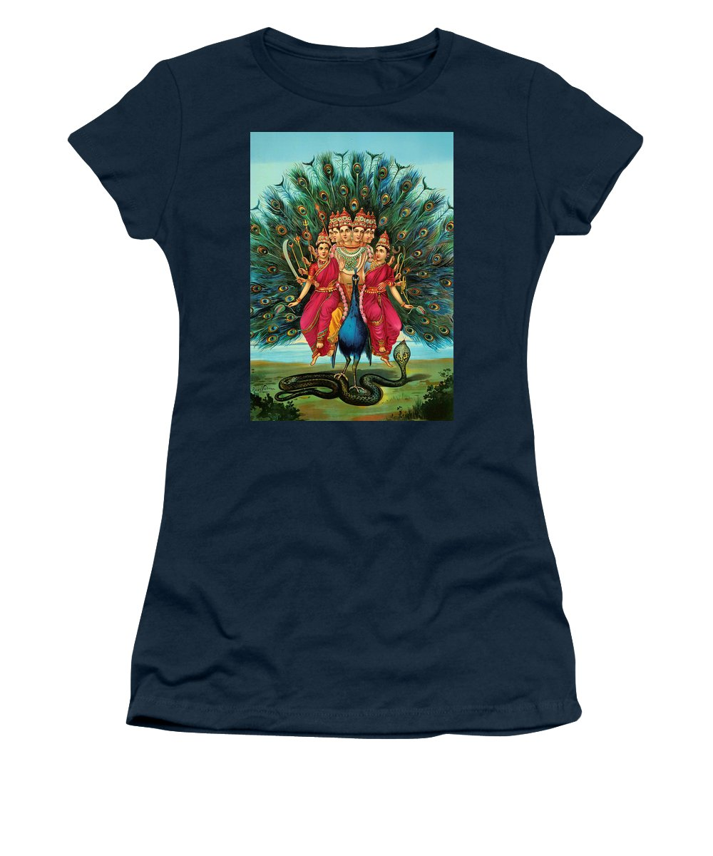 Lithograph Women's T-Shirt featuring the painting Muragan by Mountain Dreams