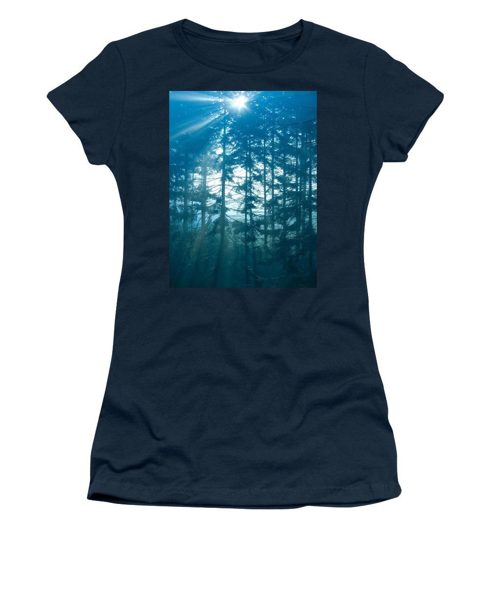 Nature Women's T-Shirt (Athletic Fit) featuring the photograph Mystic Light by Daniel Csoka