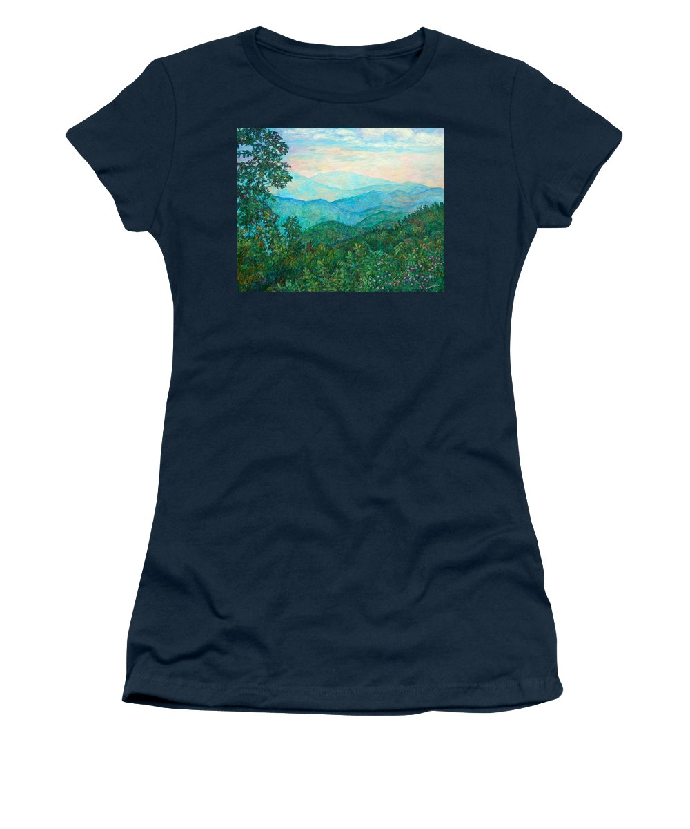 Landscape Women's T-Shirt featuring the painting Near Purgatory by Kendall Kessler