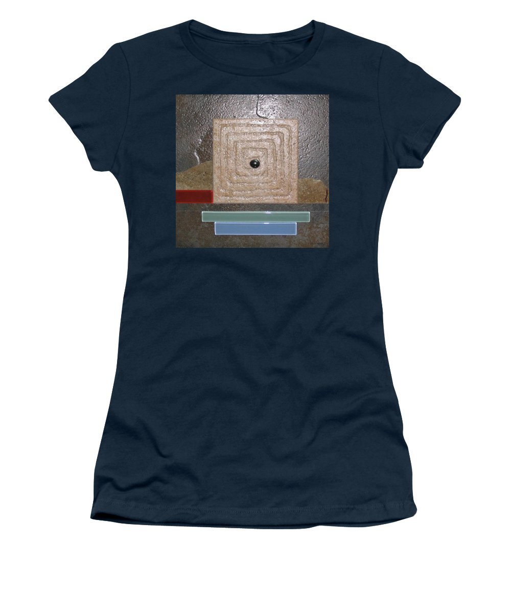 Assemblage Women's T-Shirt featuring the relief New Moon by Elaine Booth-Kallweit