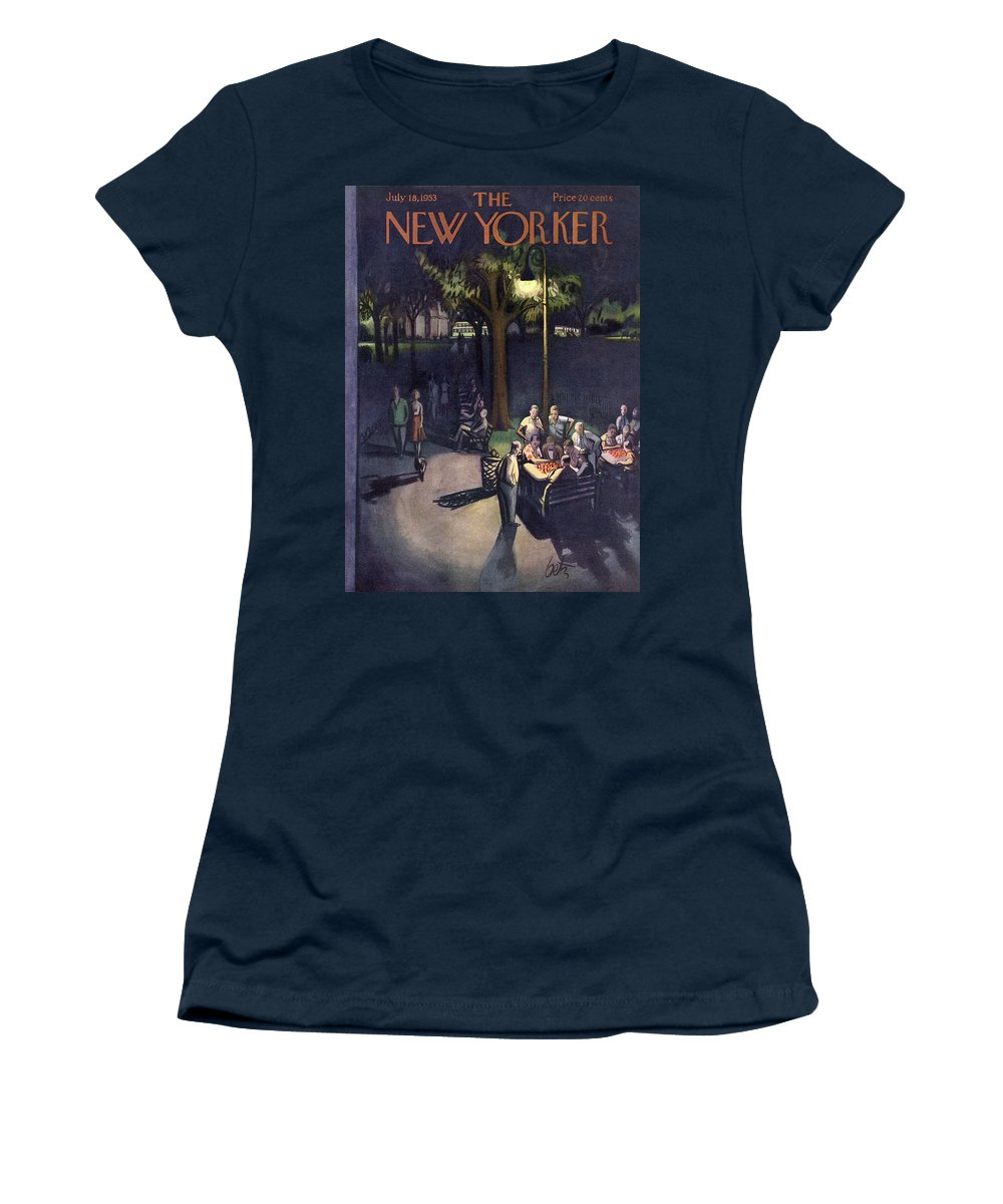 Urban Women's T-Shirt featuring the painting New Yorker July 18th, 1953 by Arthur Getz