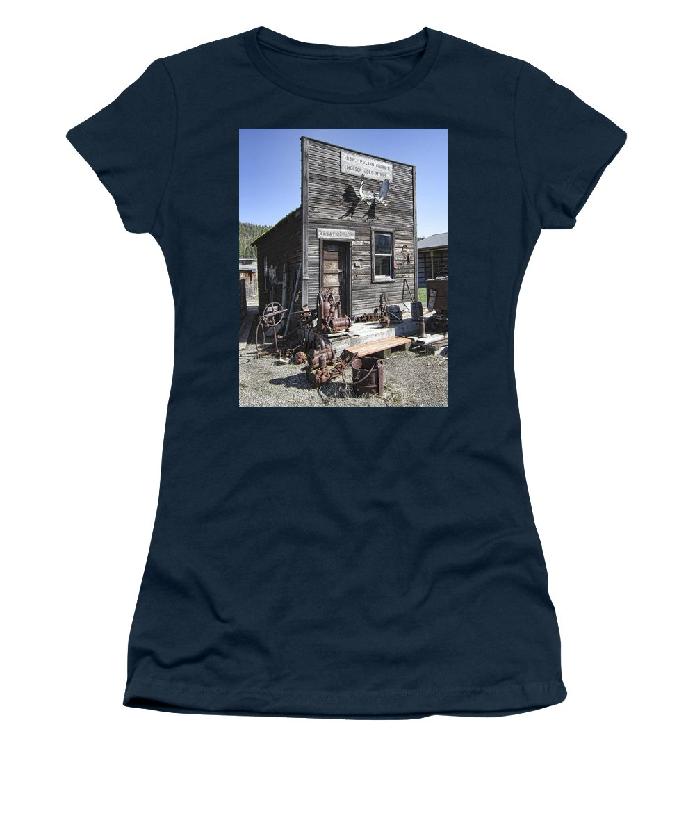 Gold Women's T-Shirt featuring the photograph Old Molson Ghost Town Assay Office by Daniel Hagerman