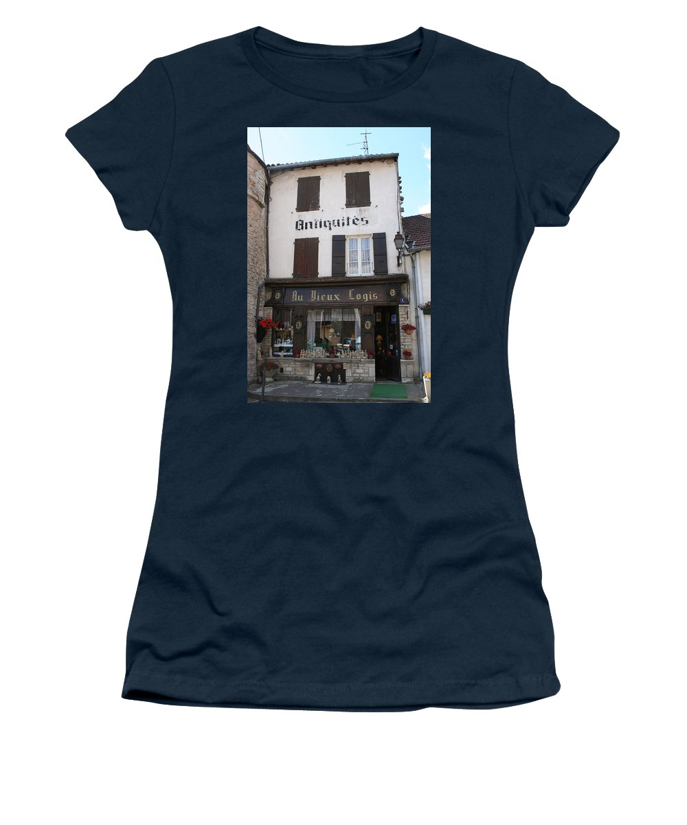 Shop Women's T-Shirt featuring the photograph Old Shop In Tournus by Christiane Schulze Art And Photography
