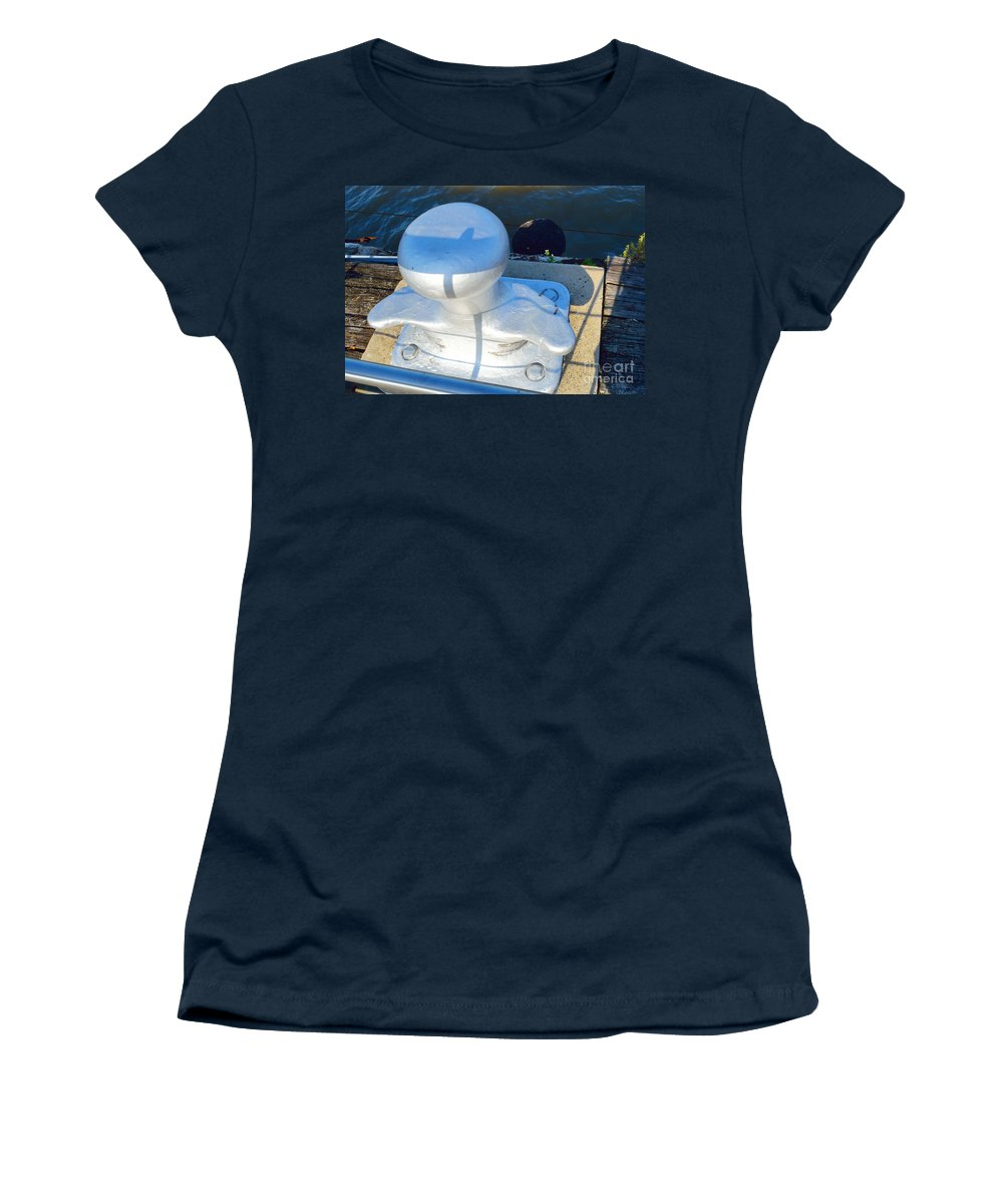 Prints Women's T-Shirt featuring the photograph On The Dock by Alys Caviness-Gober