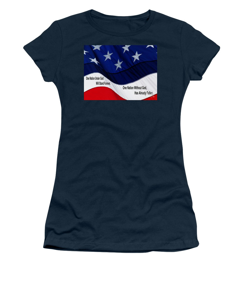 Jesus Christ Women's T-Shirt featuring the photograph One Nation Under God by Ron Tackett
