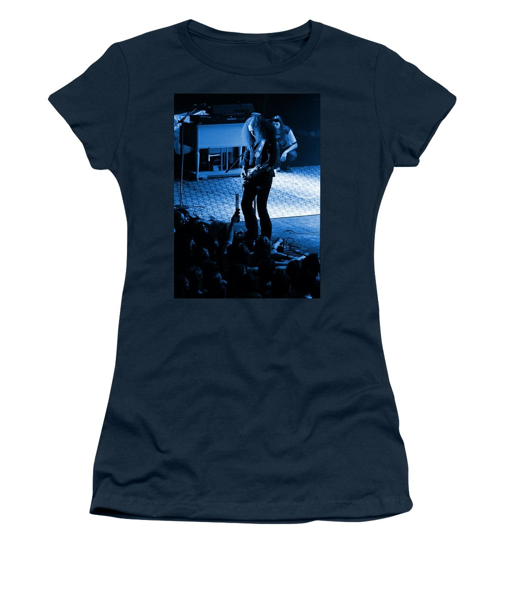 Outlaws Women's T-Shirt featuring the photograph Outlaws #29 In Blue by Ben Upham