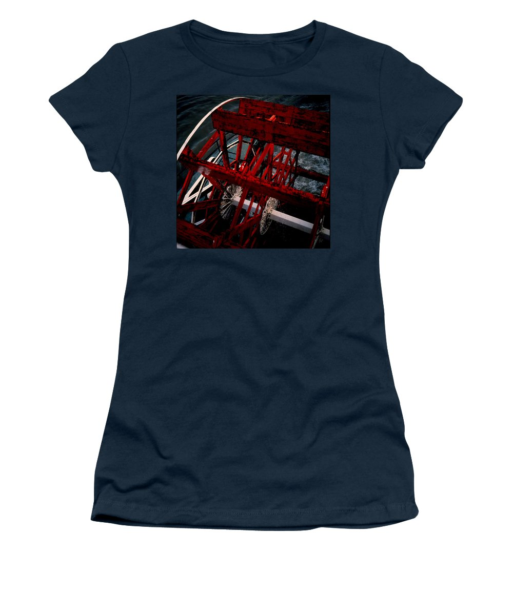 Boat Women's T-Shirt featuring the photograph Paddlewheel by Lee Newell