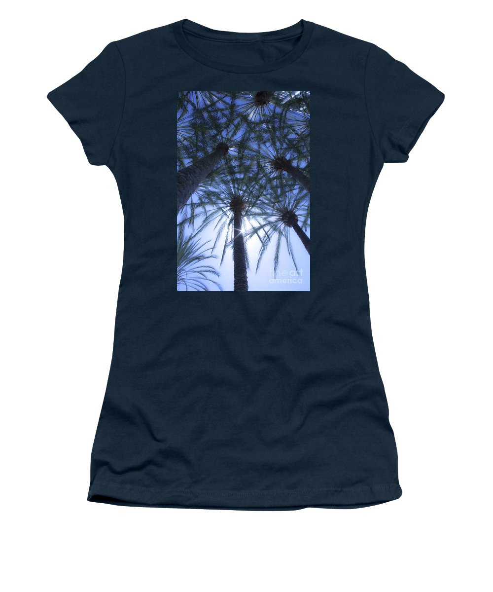 Palm Trees Women's T-Shirt featuring the photograph Palm Trees In The Sun by Jerry Cowart