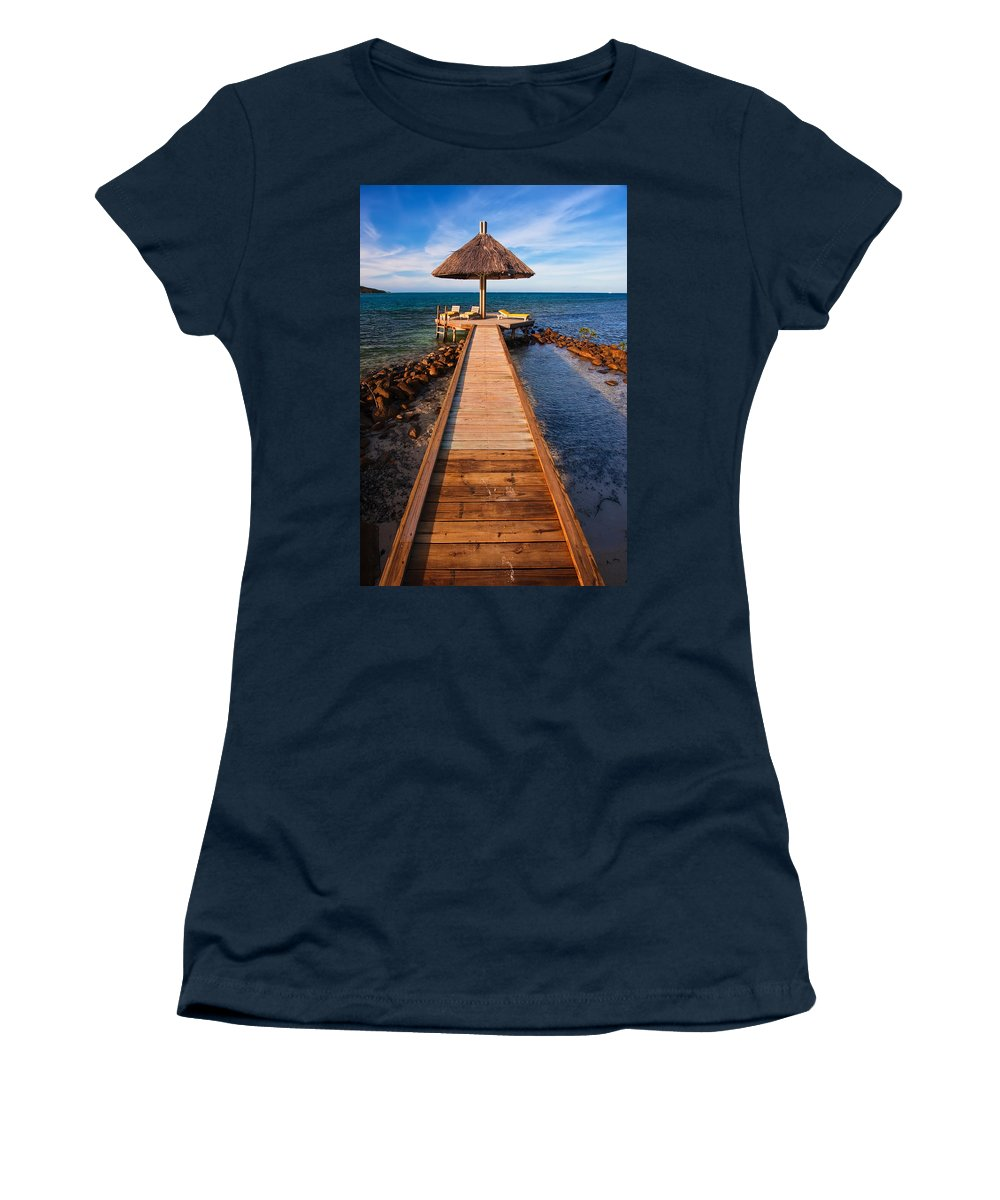 3scape Women's T-Shirt (Athletic Fit) featuring the photograph Perfect Vacation by Adam Romanowicz