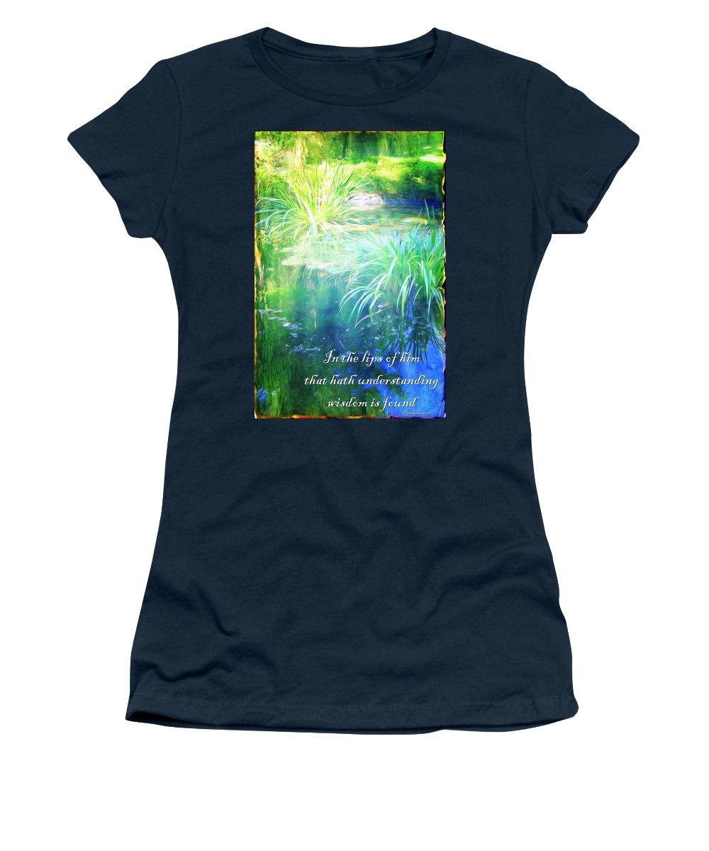 Jesus Women's T-Shirt (Athletic Fit) featuring the digital art Proverbs 10 13 by Michelle Greene Wheeler