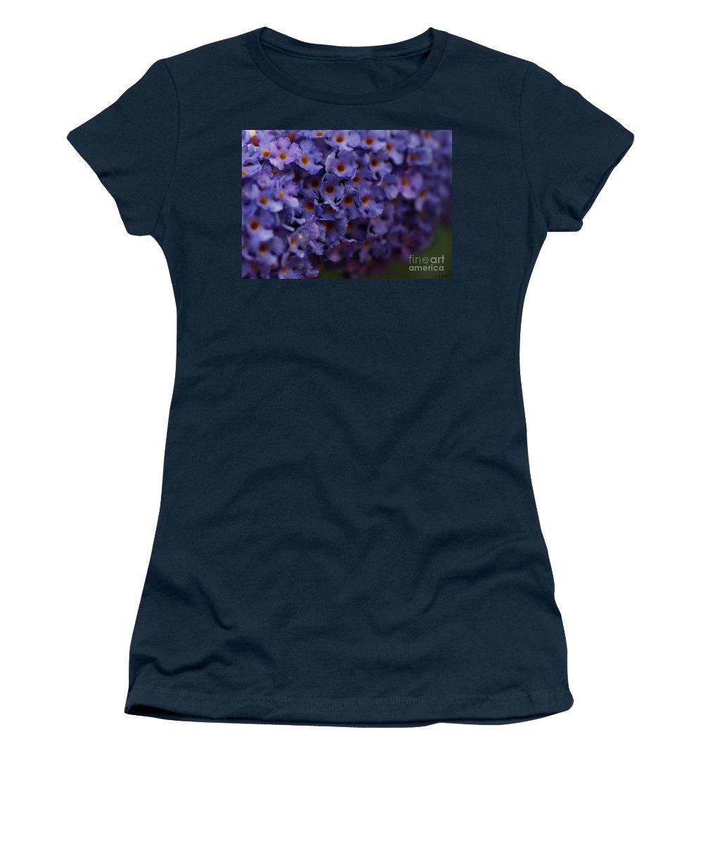 Purple Women's T-Shirt featuring the photograph Purple Flowers 2 by Carol Lynch