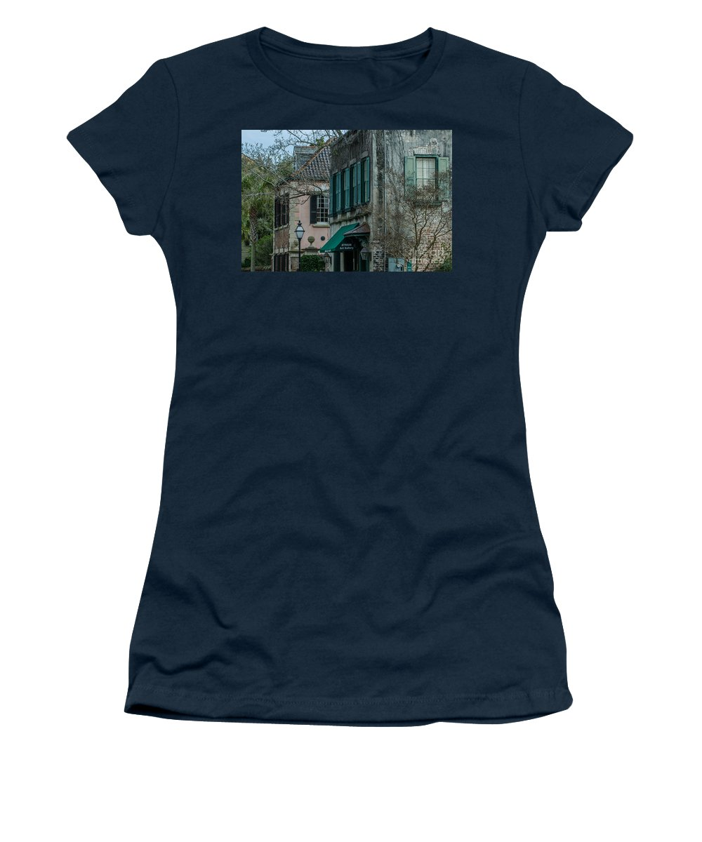 Queen St Women's T-Shirt featuring the photograph Quuen Street In Charleston Sc by Dale Powell