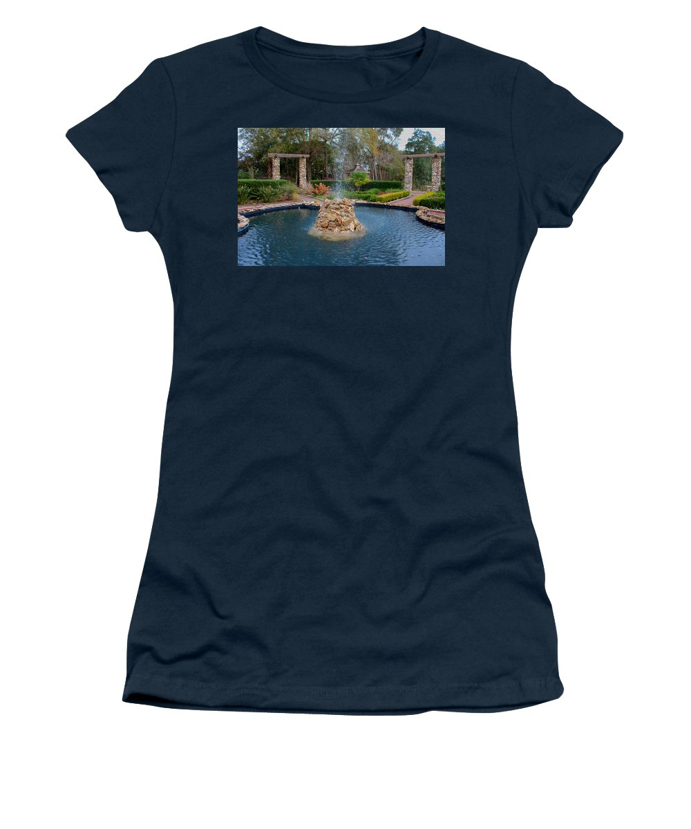 Flower Women's T-Shirt featuring the photograph Reflection Pond At Ravine Gardens State Park by John M Bailey