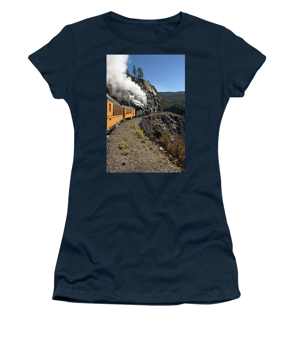 Durango Women's T-Shirt featuring the photograph Rocky Mountain High by Jerry McElroy