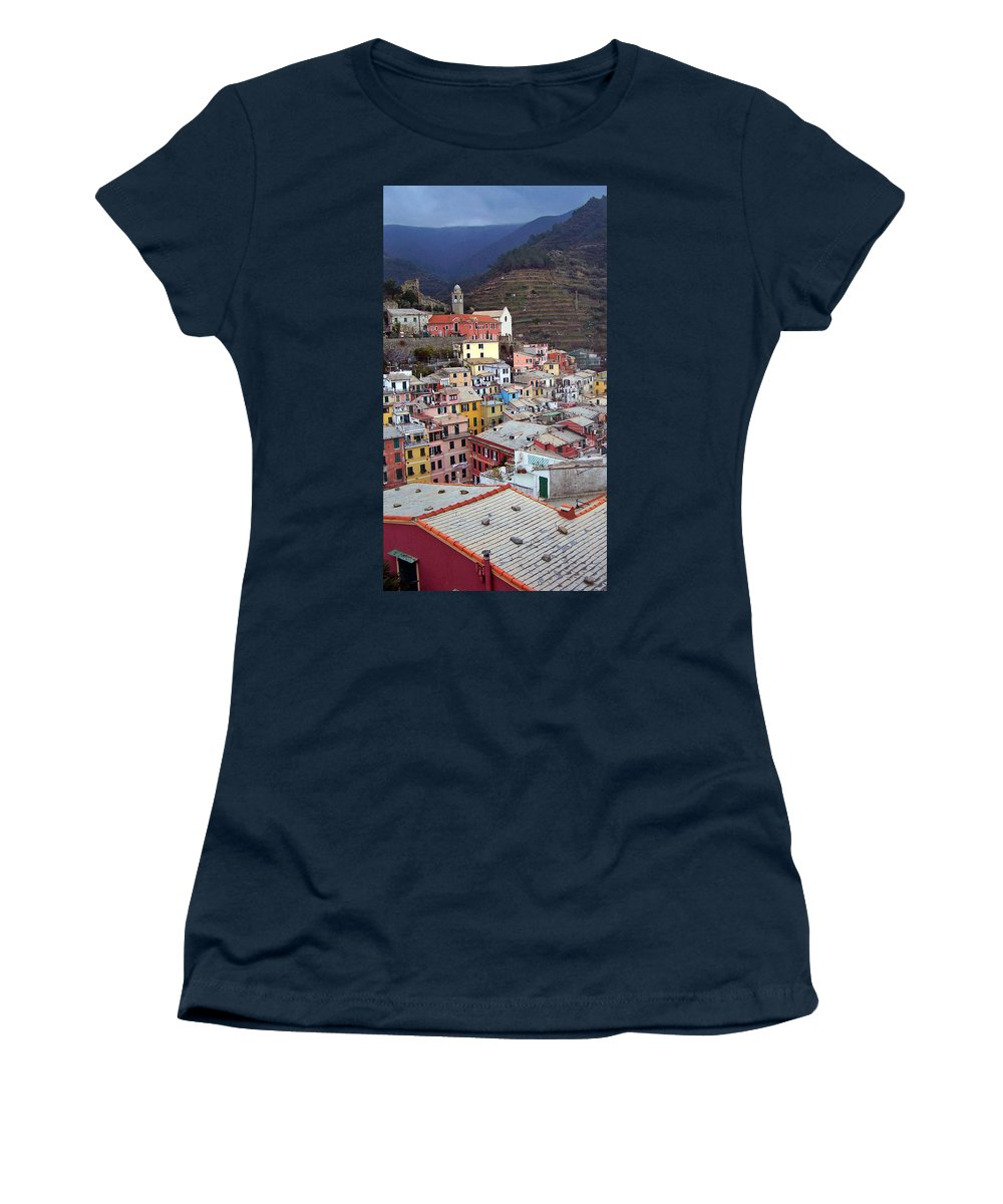 Cities Women's T-Shirt featuring the photograph Rooftop View by Jennifer Robin