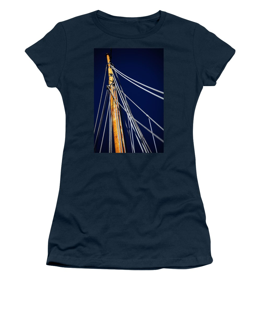 Schooner Women's T-Shirt featuring the photograph Sailboat Lines by Karol Livote