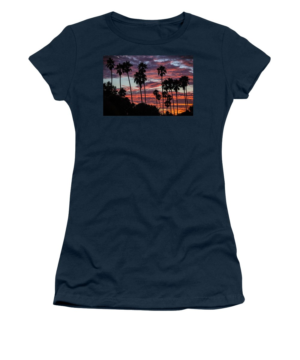 San Clemente Sunset Women's T-Shirt featuring the photograph San Clemente Sunset by Richard Cheski