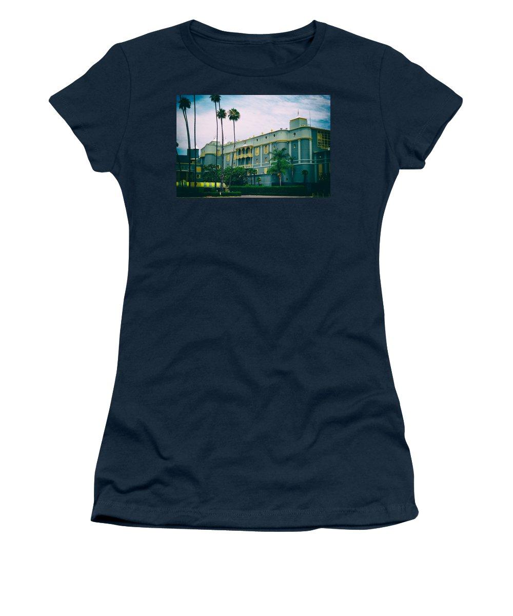 Santa Anita Race Track Women's T-Shirt featuring the photograph Santa Anita Park Race Track by Linda Dunn