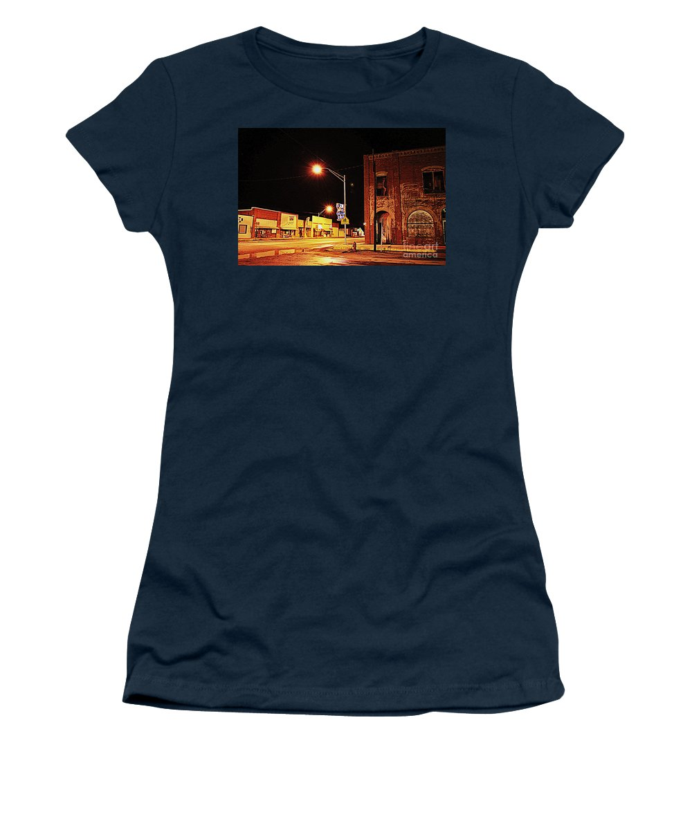 Santa Women's T-Shirt featuring the photograph Santa Claus Is Coming To Town by Anjanette Douglas