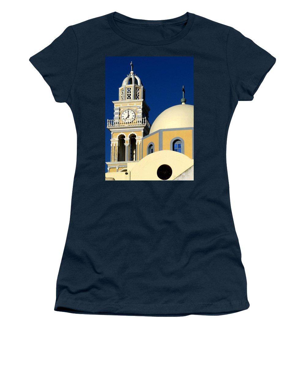 Santorini Women's T-Shirt featuring the photograph Santorini 12 by Doug Matthews