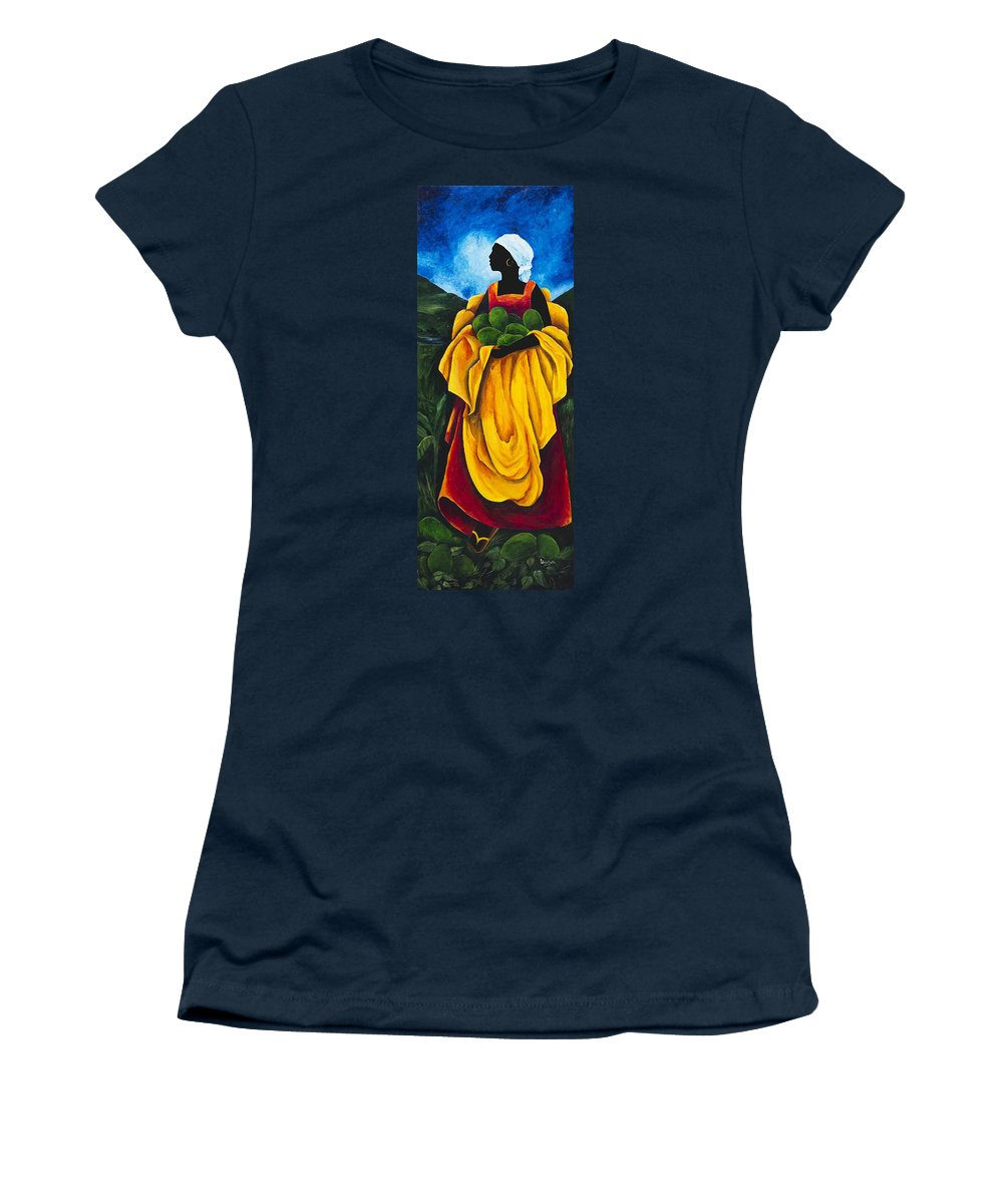 Scarf Women's T-Shirt featuring the painting Season Avocado by Patricia Brintle