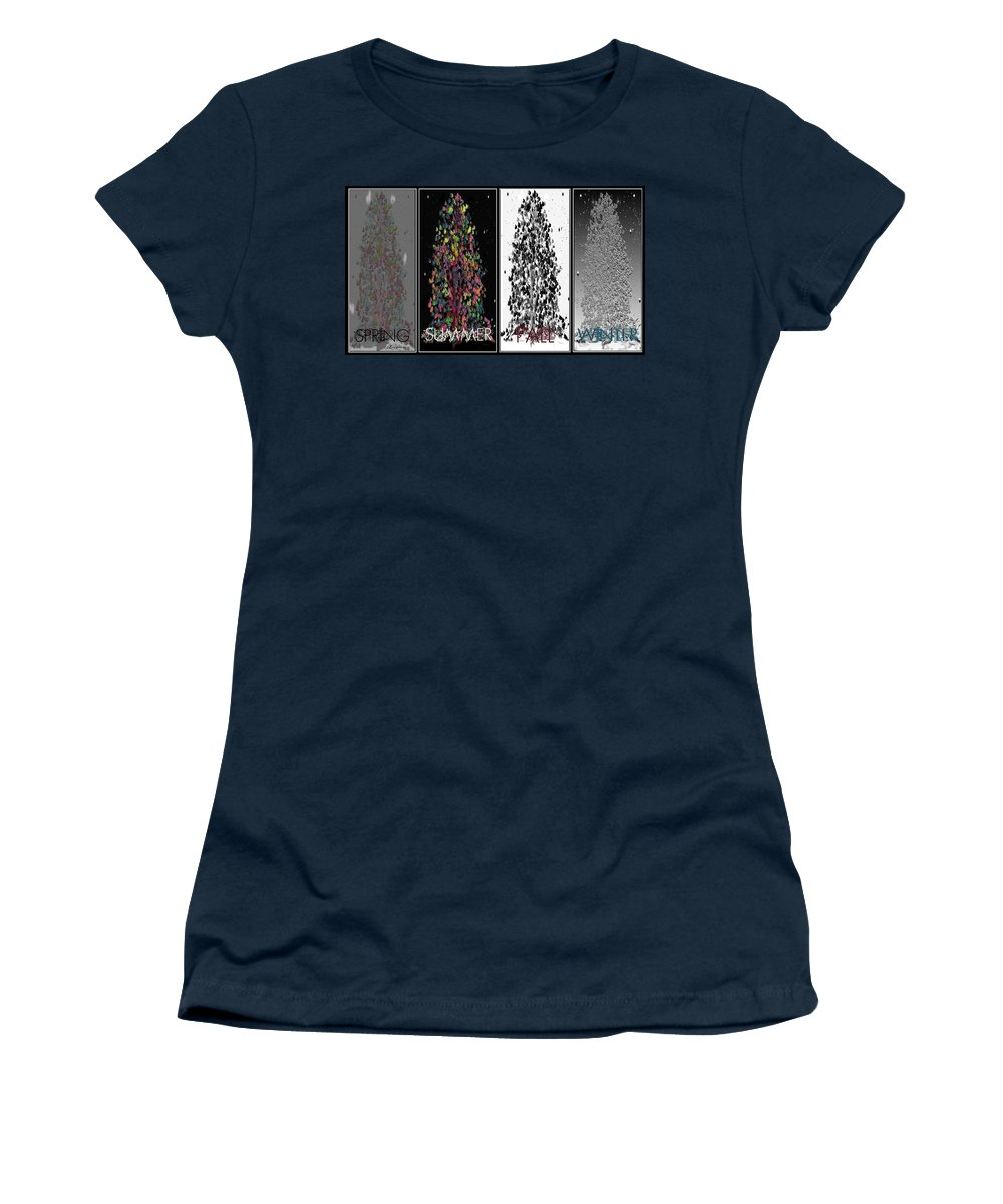 Spring Women's T-Shirt (Athletic Fit) featuring the digital art Seasons by Ericamaxine Price