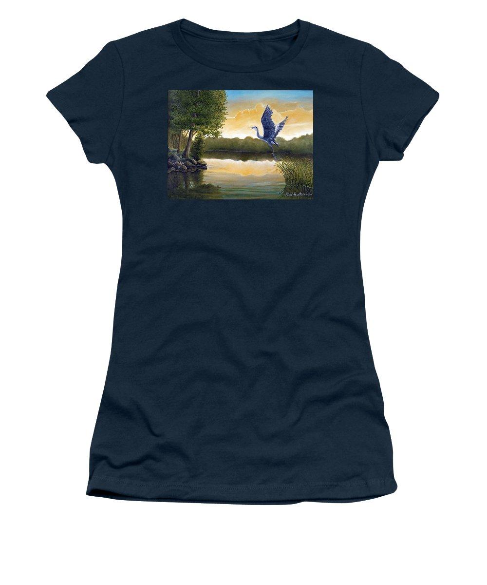 Rick Huotari Women's T-Shirt featuring the painting Serenity by Rick Huotari
