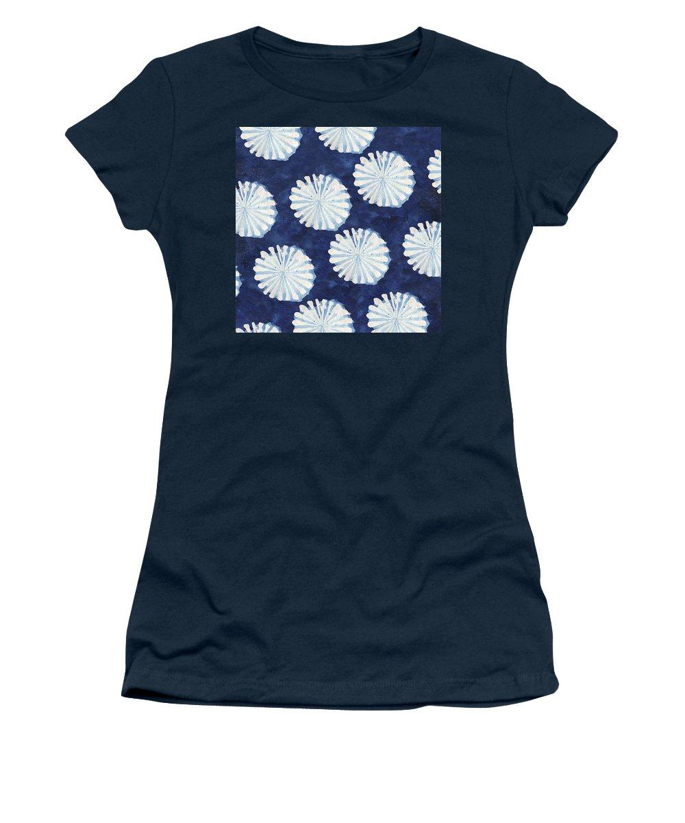 Shibori Women's T-Shirt featuring the digital art Shibori IIi by Elizabeth Medley