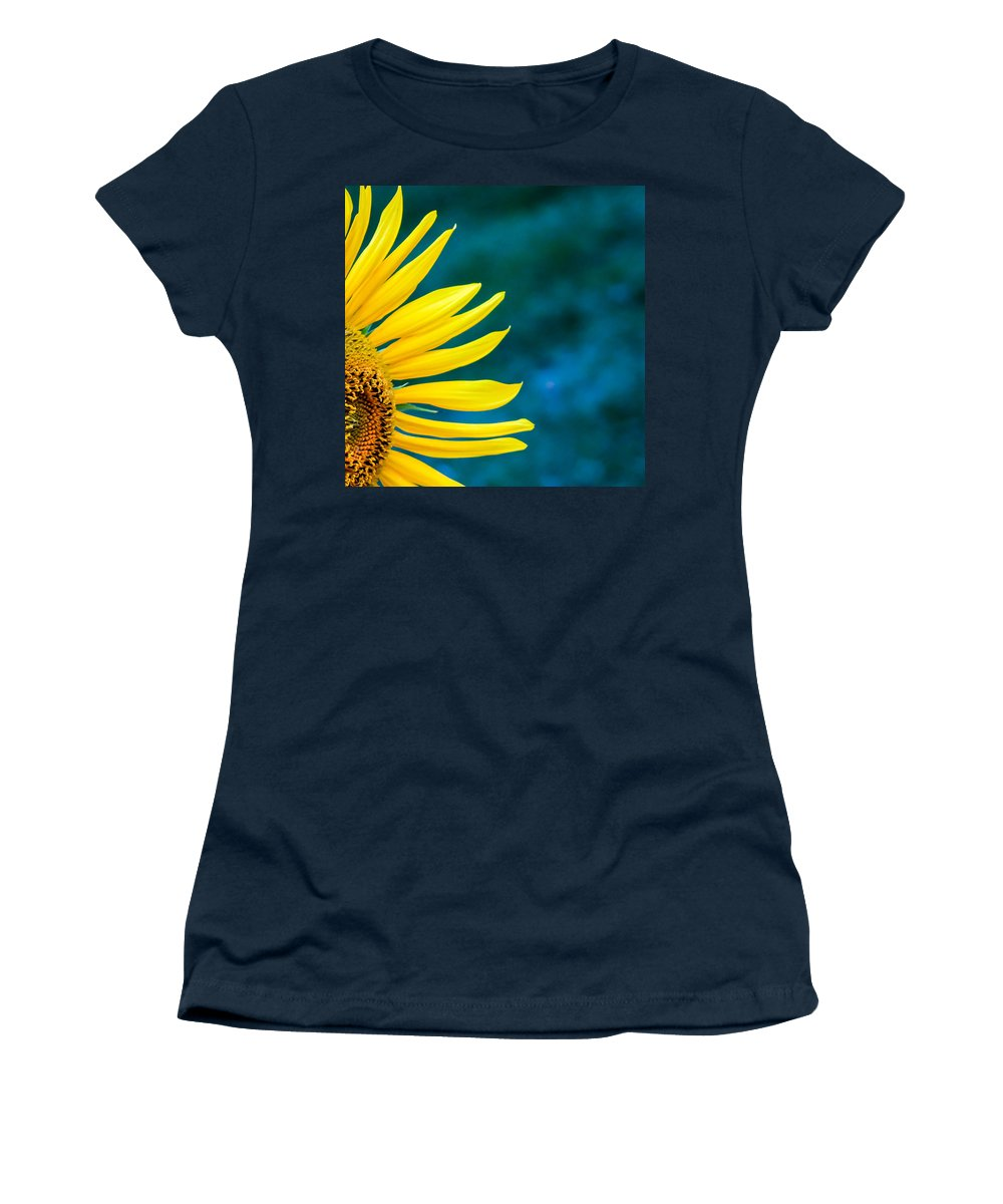 Flowers Women's T-Shirt (Athletic Fit) featuring the photograph Shy by Shari Brase-Smith