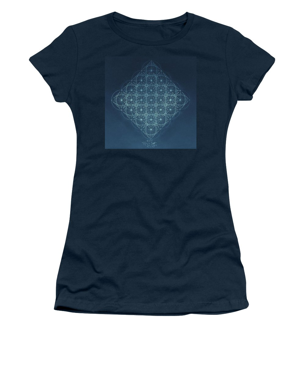 Fractal Women's T-Shirt (Athletic Fit) featuring the drawing Sine Cosine And Tangent Waves by Jason Padgett