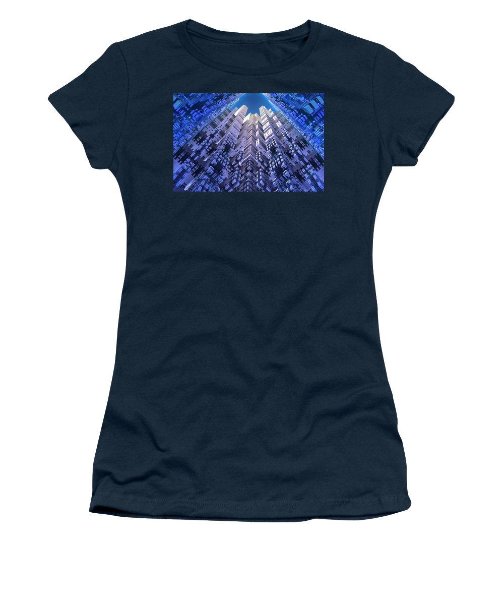 Fractal Women's T-Shirt featuring the digital art Skyscraper by Lyle Hatch