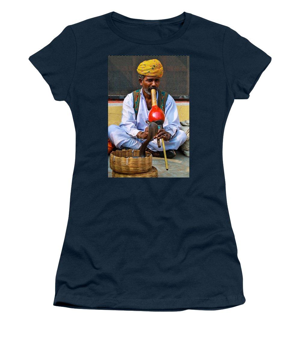 Snake Women's T-Shirt featuring the photograph Snake Charmer by Gaurav Singh