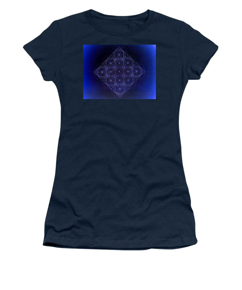 Fractal Women's T-Shirt featuring the drawing Space Time Sine Cosine And Tangent Waves by Jason Padgett