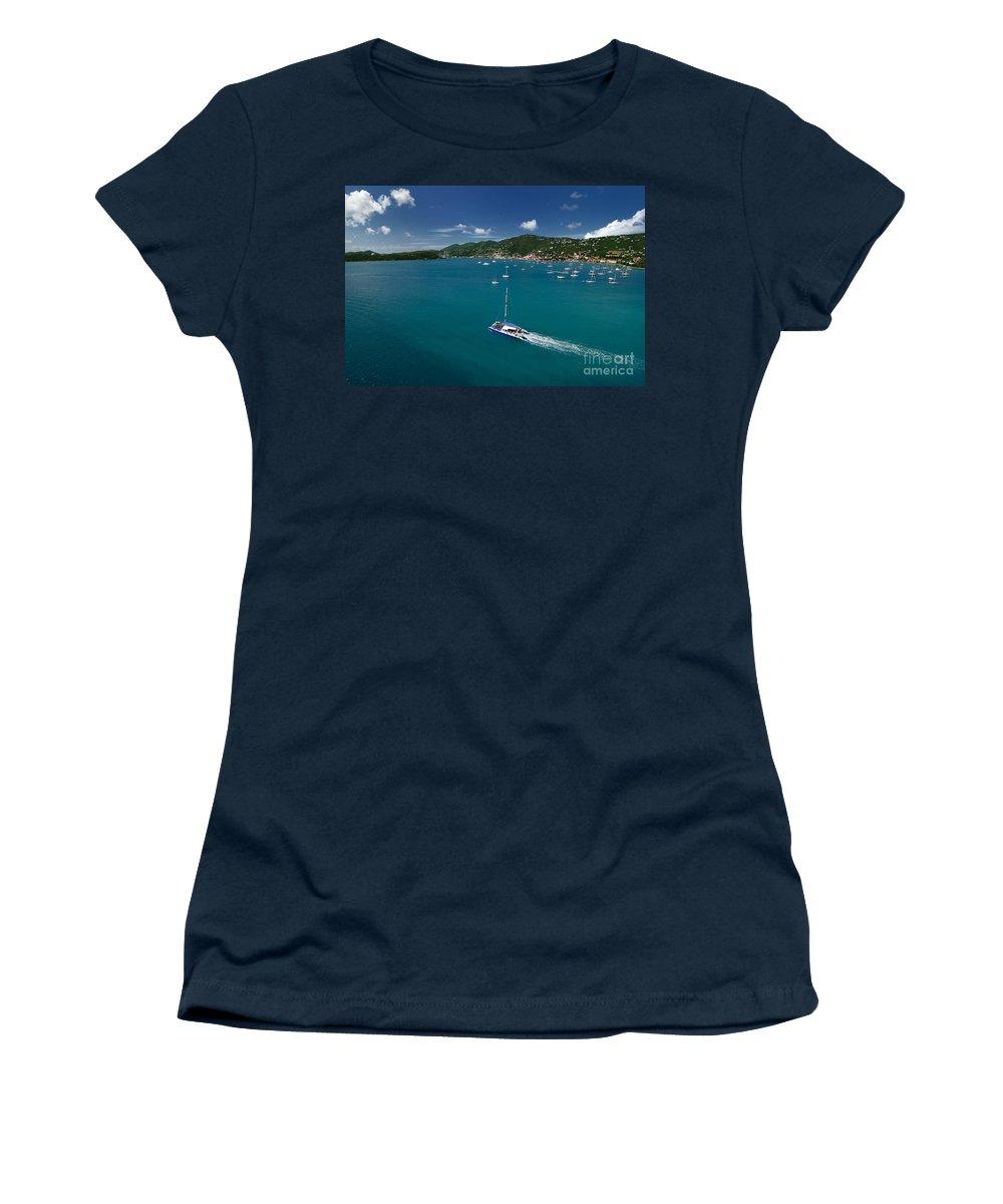 Azure Women's T-Shirt featuring the photograph St Thomas Usvi by Amy Cicconi