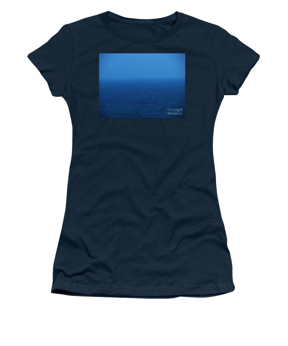 Blue Women's T-Shirt (Athletic Fit) featuring the photograph Stepping Into A Dream by Amanda Barcon