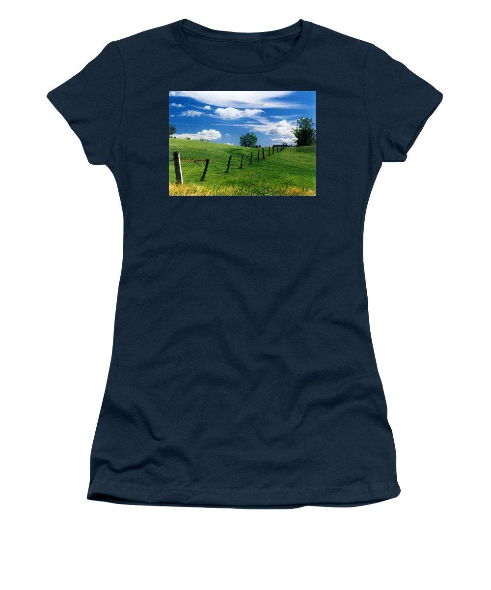 Summer Landscape Women's T-Shirt featuring the photograph Summer Landscape by Steve Karol