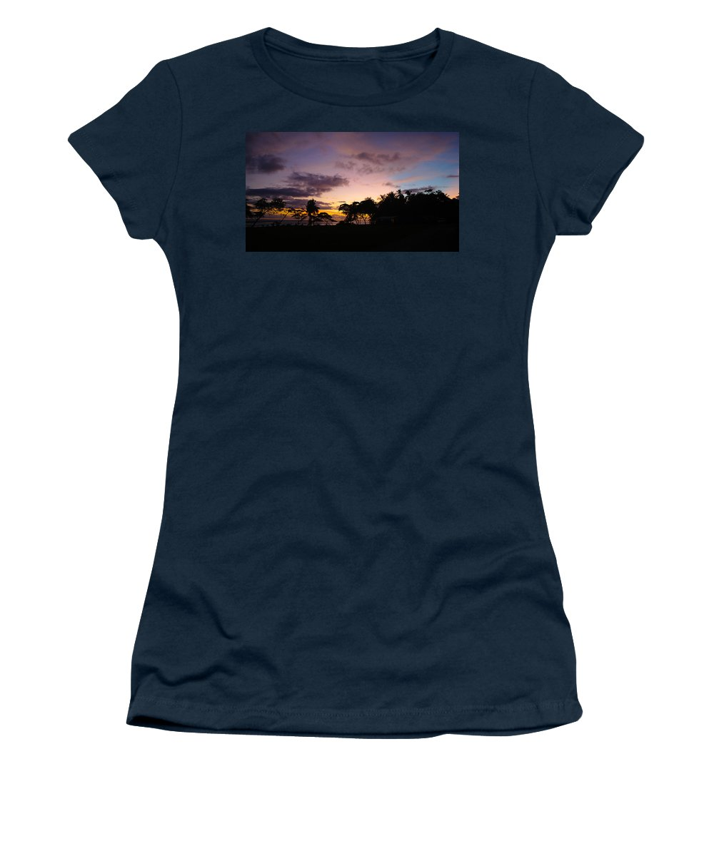Sunset Women's T-Shirt featuring the photograph Sunset In Punta Banco by Alex Lyons