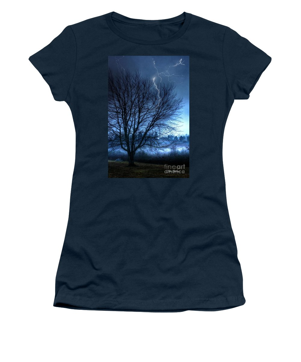 Abstract Women's T-Shirt featuring the photograph Tempting Fate by Dan Stone