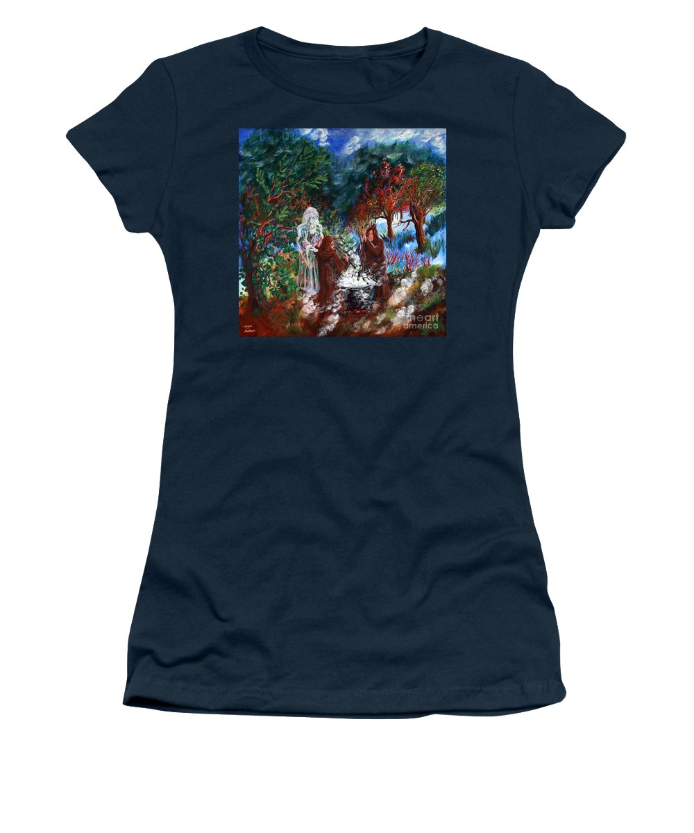 Spiritual Women's T-Shirt featuring the painting The Alchemists by Joyce Jackson