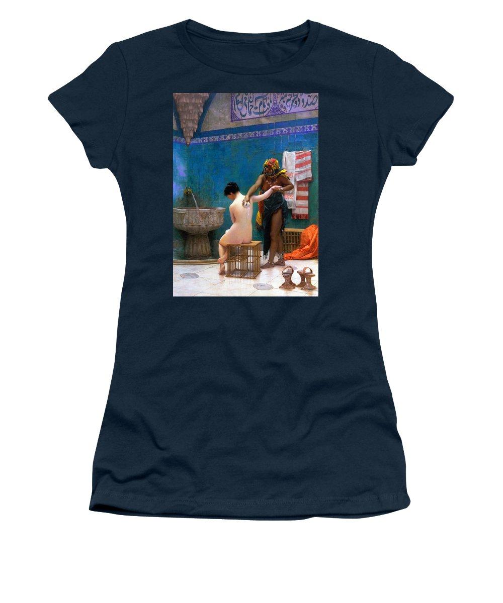 Bath Women's T-Shirt featuring the photograph The Bath by Munir Alawi