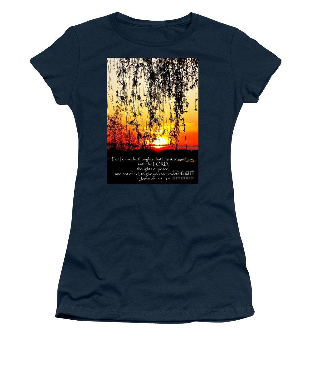 Jesus Christ Women's T-Shirt featuring the photograph The Bible Jeremiah Twentynine by Ron Tackett