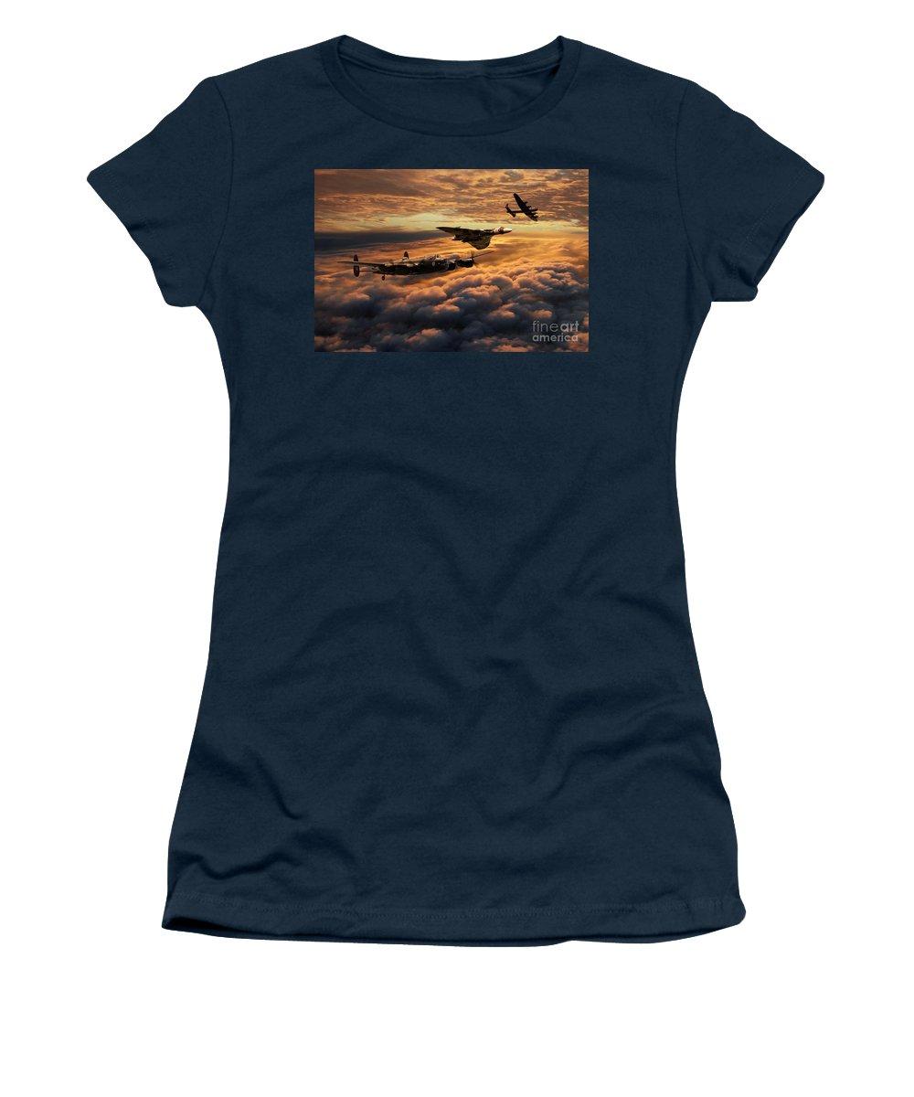 Avro Women's T-Shirt featuring the digital art The Bomber Age by J Biggadike
