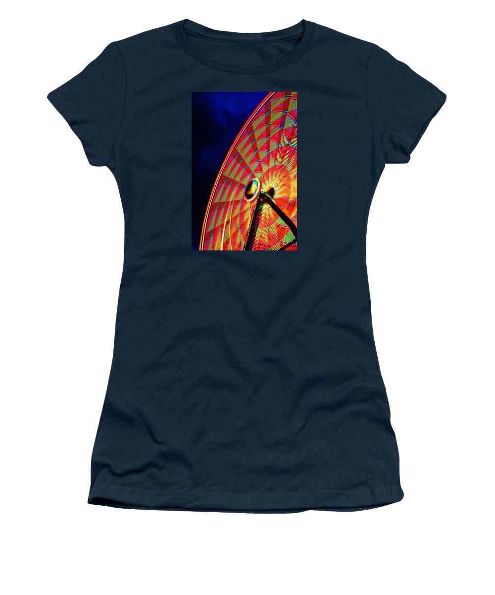 Ferris Wheel Women's T-Shirt featuring the photograph The Ferris Wheel 7/10/14 by Daniel Thompson