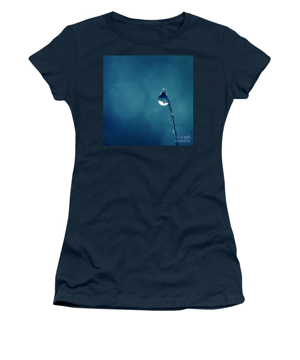 Macro Women's T-Shirt featuring the photograph The Lamp Post by Aimelle