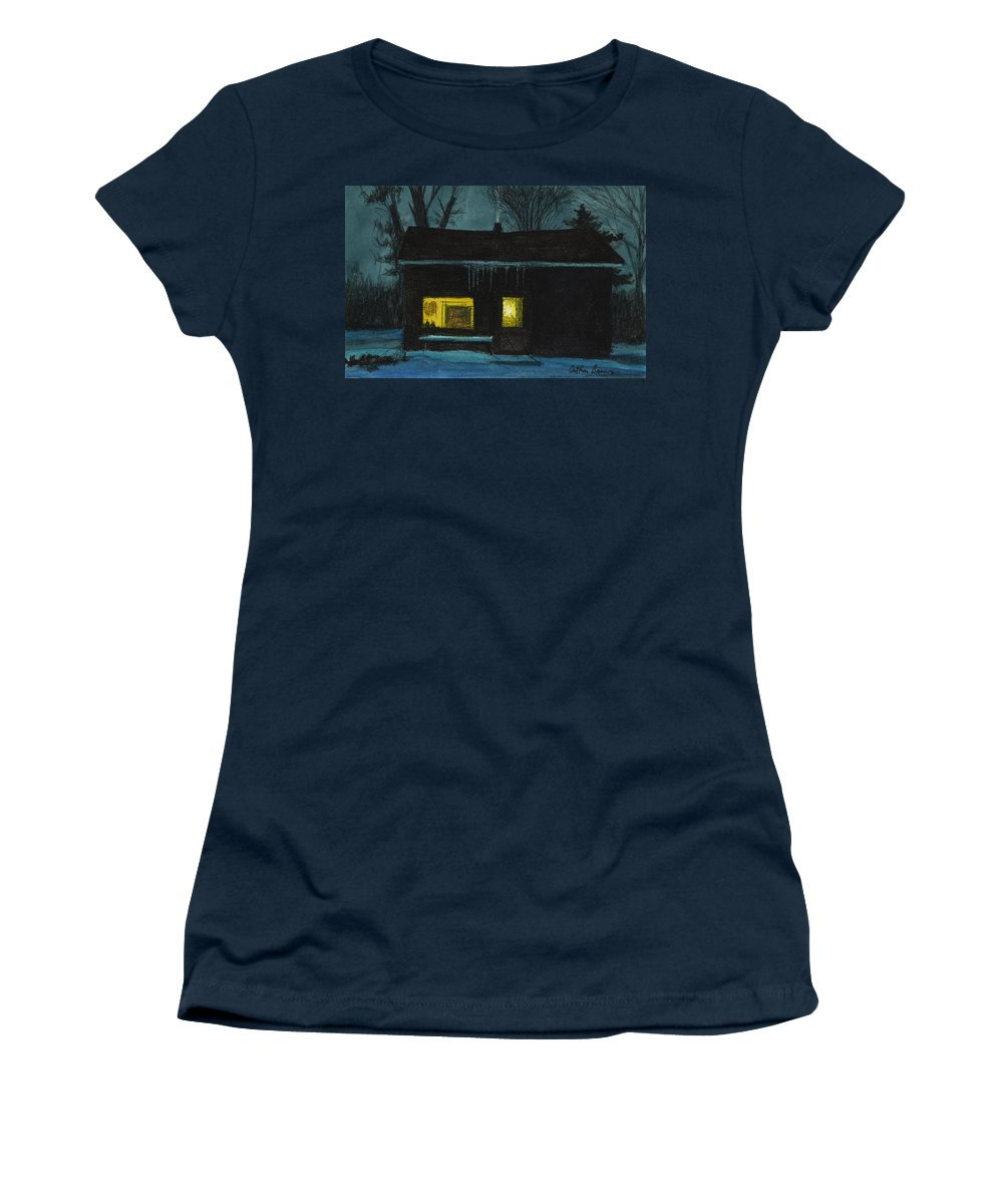 Landscape Women's T-Shirt featuring the painting The Old House by Arthur Barnes