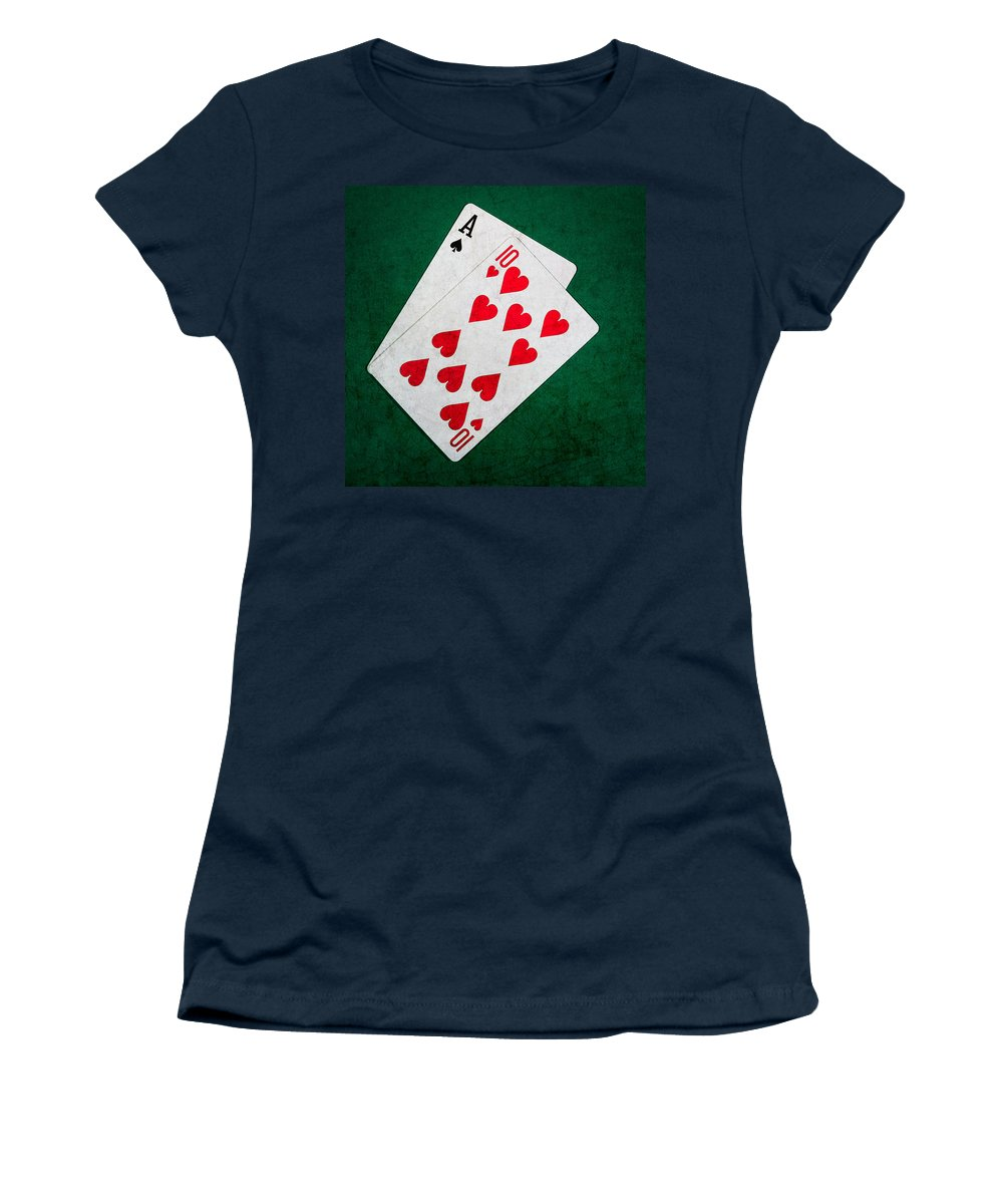 Blackjack Women's T-Shirt featuring the photograph Twenty One 1 - Square by Alexander Senin